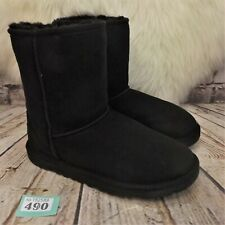 Girls UGG Australia Black Classic Short Sheepskin Boots UK 4 EUR 35 -Model 5251Y