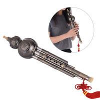 Chinese Hulusi Gourd Cucurbit Flute Ethnic Key of C Aluminum Material Gift Q1G9