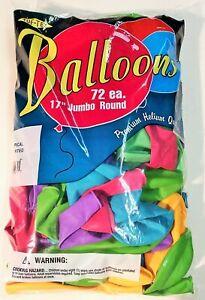 "17"" Tuf-Tex Tropical Assortment Jumbo Latex Balloons 72 Pack Party Supplies"