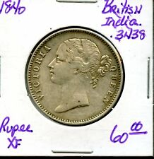 1840 British-India Rupee One Silver Coin FS66