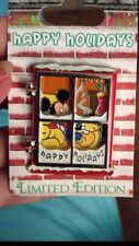 Authentic Walt Disney Mickey Mouse Holidays Hinged window Pin