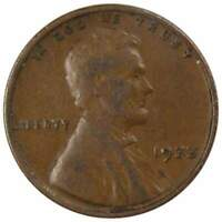 1933 1c Lincoln Wheat Cent Penny US Coin F Fine