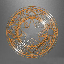 Card captor Sakura Magic Circle Metal Sticker Badge Phone Sticker Silver /Gold