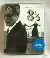 8 1/2 Criterion Collection Federico Fellini Subtitled Blu Ray New Sealed Spec Ed