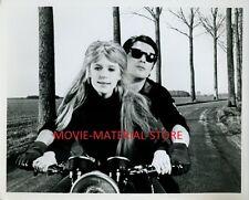 "Marianne Faithfull Alain Delon Girl On A Motorcycle Original 8x10"" Photo #L5867"
