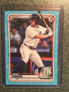 2020 Bowman 1st Blue /499 - Daniel Cabrera (Detroit Tigers)