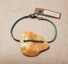 BNWT LAGOON BLU Unique Natural Raw Organic Earthy Handcrafted Leather Bracelet