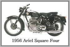 1956 ARIEL SQUARE FOUR - JUMBO FRIDGE MAGNET - VINTAGE CLASSIC MOTORCYCLE BIKE