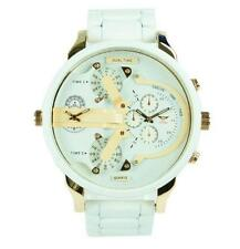 NY London Men's Dual Time Metal Strap & Face Small Decorative Dials Watch Analog