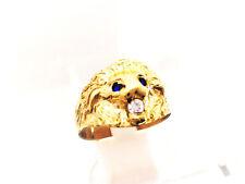 bague lion or jaune 375/1000