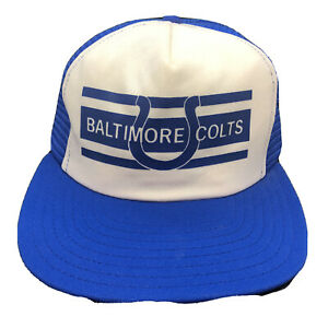 VTG 70s NFL Baltimore Colts Snapback Trucker Hat Cap AJD Made In The USA Rare