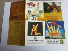 2 x Vintage Benson & Hedges Cricket Fixtures - 1978-79/ 1987-88