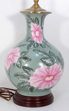 SHOAL CREEK ACCENT LAMP PINK FLOWERS LAMP PINK AND GREEN LAMP