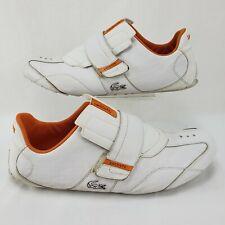 Lacoste Swerve Orange Mens Shoes Size 13 White Sport Strap