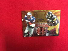 1997 Edge Jerome Bettis  Curtis Martin game used ball card  NFL gu Steelers