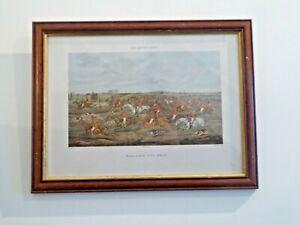 """Antique Framed & Glazed Print  """"The Quorn Hunt"""" by H.Alken. 1835"""
