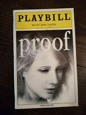 "SIGNED PLAYBILL Anne Heche ""PROOF"" Len Cariou 2002 Broadway"