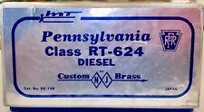 HO brass PRR Baldwin RT-624 diesel. Painted, good