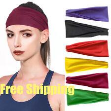 Unisex Elastic Stretch Headband Hairband Running Yoga Gym Turban Soft Head Wrap