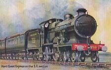 RAILWAY : Kent Coast Express -WAY - TUCK 'Oilette' Famous Expresses 3570