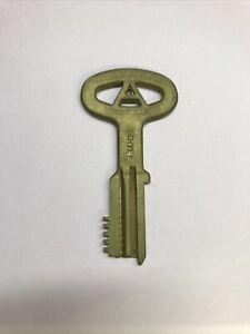 """Folger Adam Co. Lemont, Illinois Brass, Retired Prison Jailor 5"""" Key #4"""