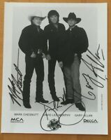 Mark Chestnutt David Lee Murphy Gary Allan Autograph Photo Country Music Tour