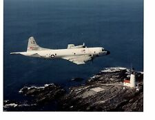 Lockheed Orion P3C VP10 Navy Aircraft Photo 8x10 Small Point Lighthouse Maine