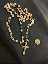 Rosary Christian Jesus & Mary Pink Hearts ❤️