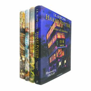 Harry Potter Illustrated Hardback 4 Book Collection Set (RRP £122) Jim Kay