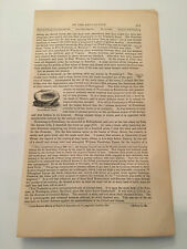 K30) Pocahontas's Basin Powhatan Tribe American Revolution 1860 Engraving