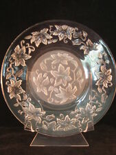 """Fantasia Etched Leaf Princess House 4 - 8"""" Desert Plates - New in Box"""