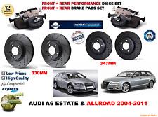 für Audi A6 Allroad 05-11 Vordere Hintere Performance GELOCHTE BREMSSCHEIBEN +