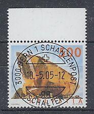 Schweiz 2002 Mineralien Mi.-Nr. 1809 II C Oberrandstück O