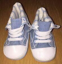 Boys Denim Pram Shoes Size 6-12 Months