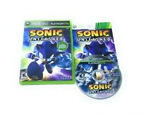 Sonic Unleashed (Microsoft Xbox 360, 2008) Complete w/Manual CIB Tested Works