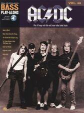 AC/DC Bass Guitar Play-Along Vol 40 TAB Book & Audio Back in Black Rock