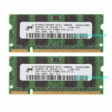 Micron 4 G 4GB 2X 2GB 2 GB DDR2 667Mhz PC-5300 200pin SO-DIMM Laptop Memory RAM