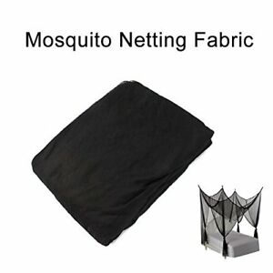 """Shatex Mosquito Netting DIY Fabric 60""""Wx66""""L against Insect Pest Barrier Black"""