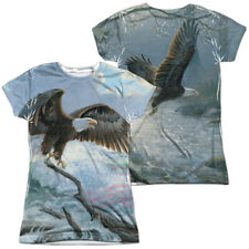 """American Eagle"" Dye Sublimation Double Sided Girl's Junior Babydoll Tee"