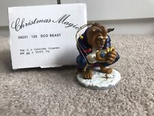 Beast Of Beauty & The Beast Disney Grolier Christmas Magic Ornament New In Box