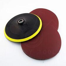 "25X 7"" Sandpaper Sanding Disc Hook Loop Polishing 320# W/ Backing Pad Rotary"