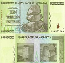 MULTI-VARIATION LISTING 5 denominations Zimbabwean $ banknotes of Zimbabwe UNC