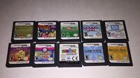 Nintendo DS Lot of 10 Games Bust a Move Jewel Match Zubo Slingo Quest Crosswords