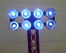 COOL White LED Lamp Replacement kit, (bulbs) for Lionel 8-lamp Floodlight Tower