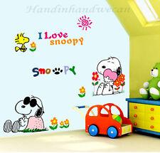 I Love Snoopy Wall Sticker Removable Kids Nursery Room Decal Home Decor