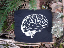 Brain Patch brains science patches smarts geekery zombie walking dead goth punk