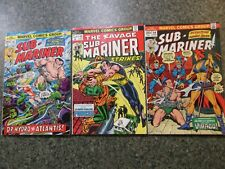 THE SUB-MARINER #62,64, AND 68 (VF-NM) MARVEL 1973