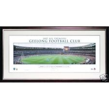GEELONG CATS 2007 AFL PREMIERS PANORAMIC SIGNED BY CAPTAIN TOM HARLEY FRAMED