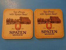2 Beer Coasters ~ SPATEN Brauerei ~ Munchen, GERMANY ** Add'l Coasters $0.25 S&H