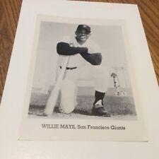 SAN FRANCISCO GIANTS 1962 TEAM PHOTOS WILLIE MAYS 10 TOTAL